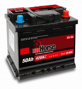 AKUMULATOR    RED  HORSE 12V 50AH  P+
