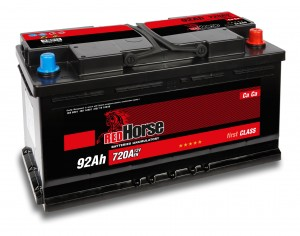 AKUMULATOR    RED  HORSE 92AH  P+  12V