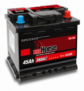 AKUMULATOR RED HORSE 12V 45AH P+