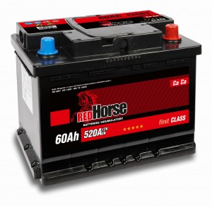 AKUMULATOR    RED  HORSE 12V 60AH  P+